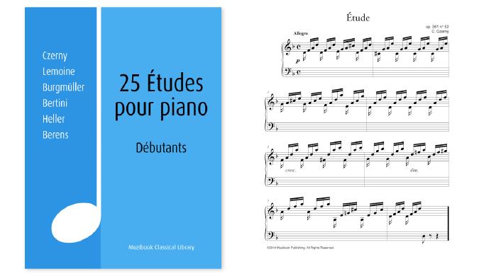Études Pour Piano De Czerny à Berens, Muzibook.fr