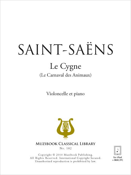 Partition iPad : Le Cygne - Violoncelle et Piano - De