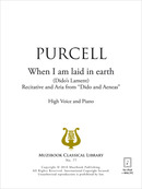 When I am laid in earth De Henry Purcell - Muzibook Publishing