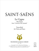 Le Cygne (transcription alto) De Camille Saint-Saëns - Muzibook Publishing