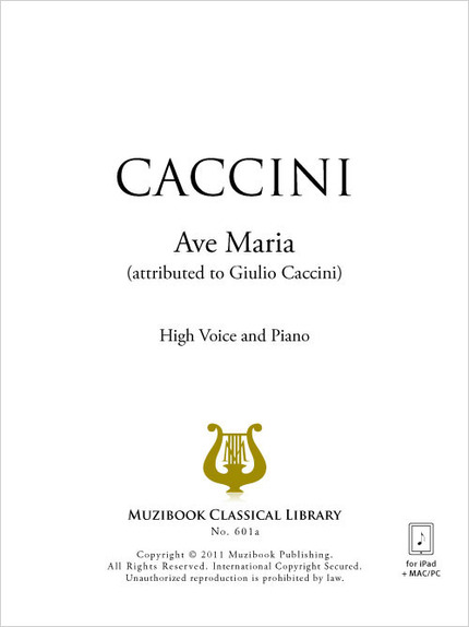 partition chant ave maria caccini